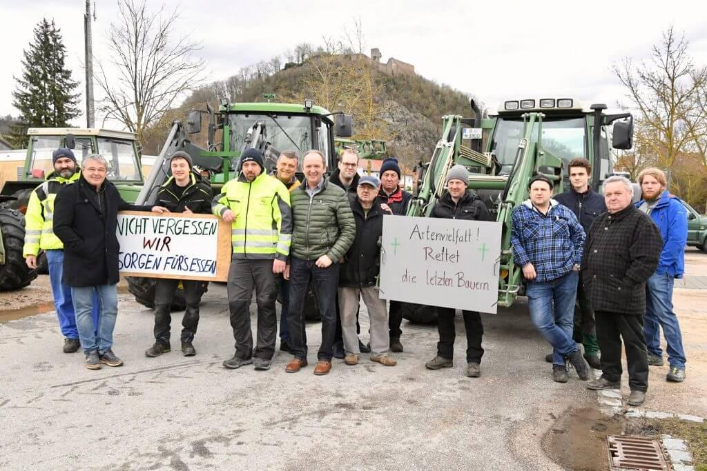 """CSU-Donaustauf-Sulzbach unterstützt die Aktion """"Land schafft Verbindung"""" der Landwirte"""